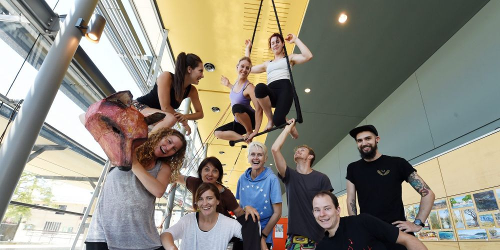 Theatre group Maxima in rehearsal for the new show.