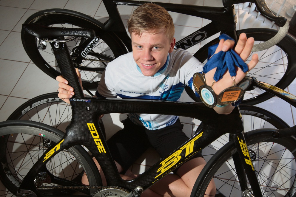 Kye Bonser is aiming to qualify for the Track Cycling World Championships in December. Picture: Bruce Hunt www.communitypix.com.au   d464541