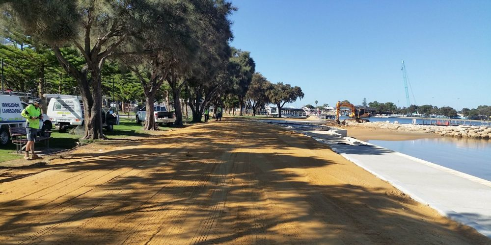 The eastern foreshore redevelopment is nearing completion.