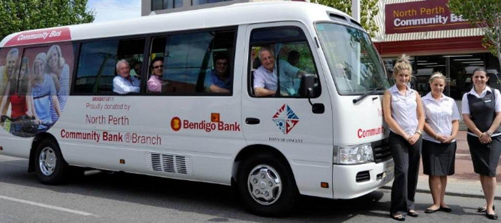 The community bus that former Vincent mayor Nick Catania wants returned to North Perth Bendigo Bank.
