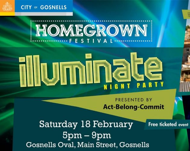 Homegrown Festival: Illuminate Night Party in Gosnells