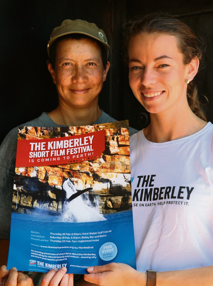 Champions of the Kimberley Michelle Kwok and organiser Monique Barker. Picture: Martin Kennealey        www.communitypix.com.au   d464970