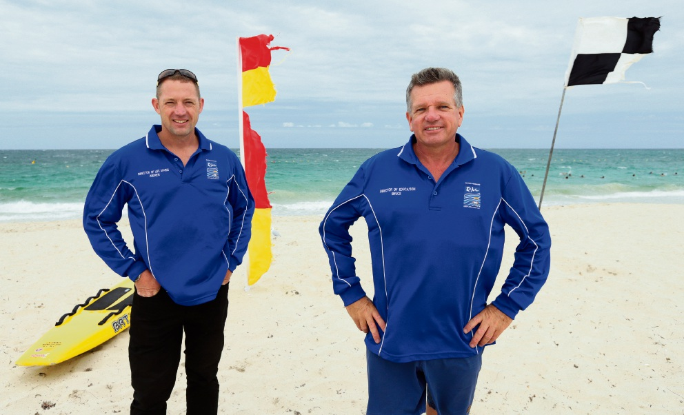 Quinns Mindarie Surf Life Saving Club's Andrew Morgan and Bruce Westerman. Picture: Martin Kennealey d465103