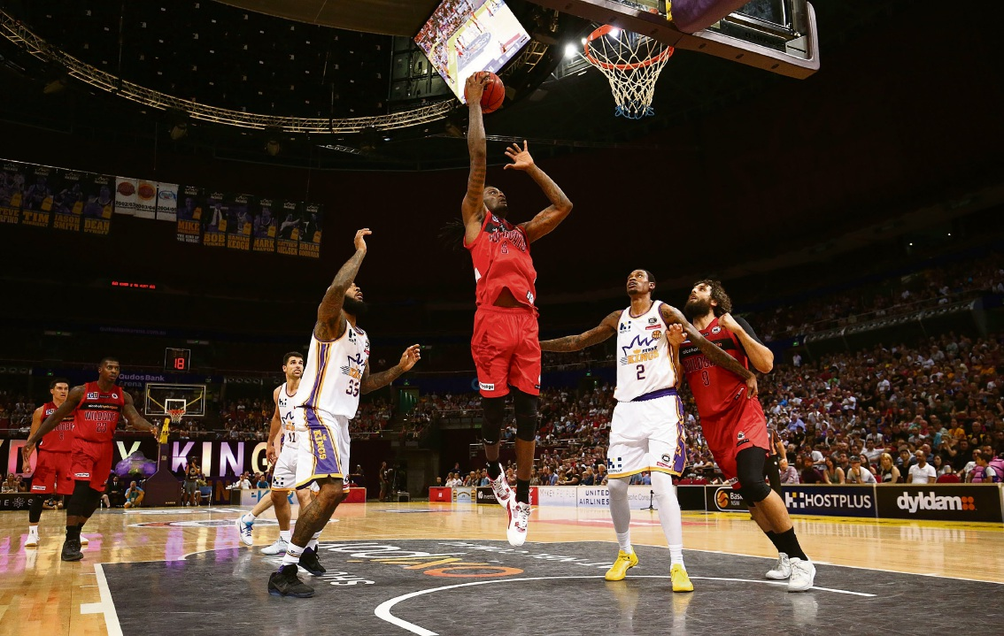 Wildcat Jameel Mckay takes a shot against the Sydney Kings. Picture: Getty Images