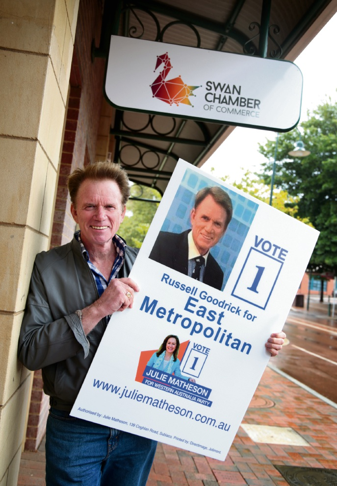 Russell Goodrick is standing for the East Metroplitan seat as a candidate for the Julie Matheson Party.  Picture: David Baylis