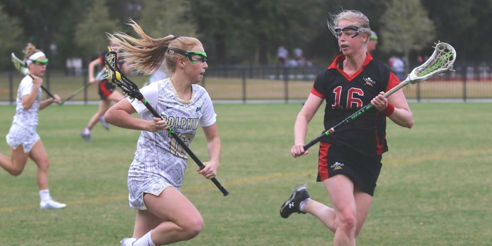 Leeming local Ashtyn Hiron (left) is currently in the US playing lacrosse for the University of Jacksonville.