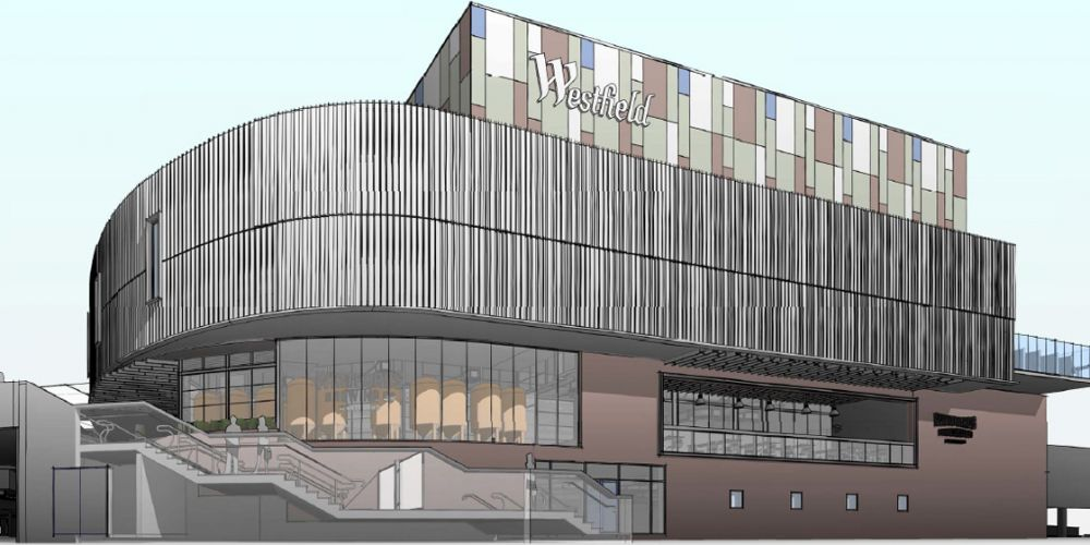 The façade will feature a glimpse of the brewing operation through windows and a sky deck.