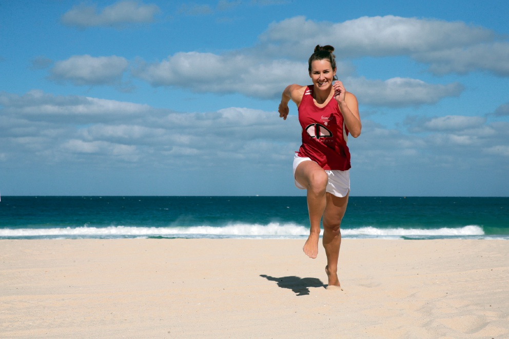Beach sprinter Gabby Murphy says the elimination-style format will be challenging. Picture: Martin Kennealey           d465147