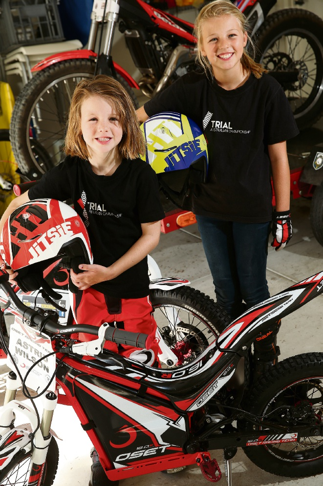 Astrid and Holly Wilson will be part of the X Trial Australia Championship event. Picture: Andrew Ritchie                              www.communitypix.com.au  d464993