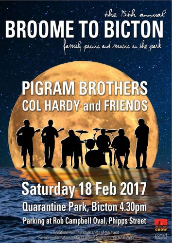 15th annual Broome to Bicton Pigram Brothers concert on this Saturday