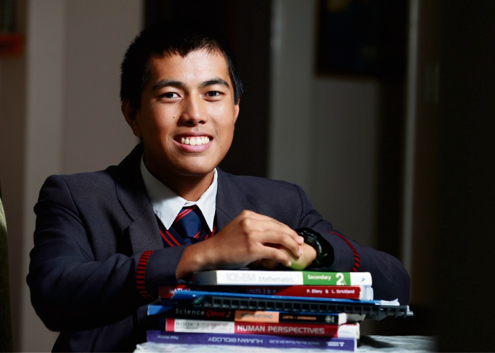 Kingsway Christian College Year 12 student Joseph Carlos. Picture: Marie Nirme