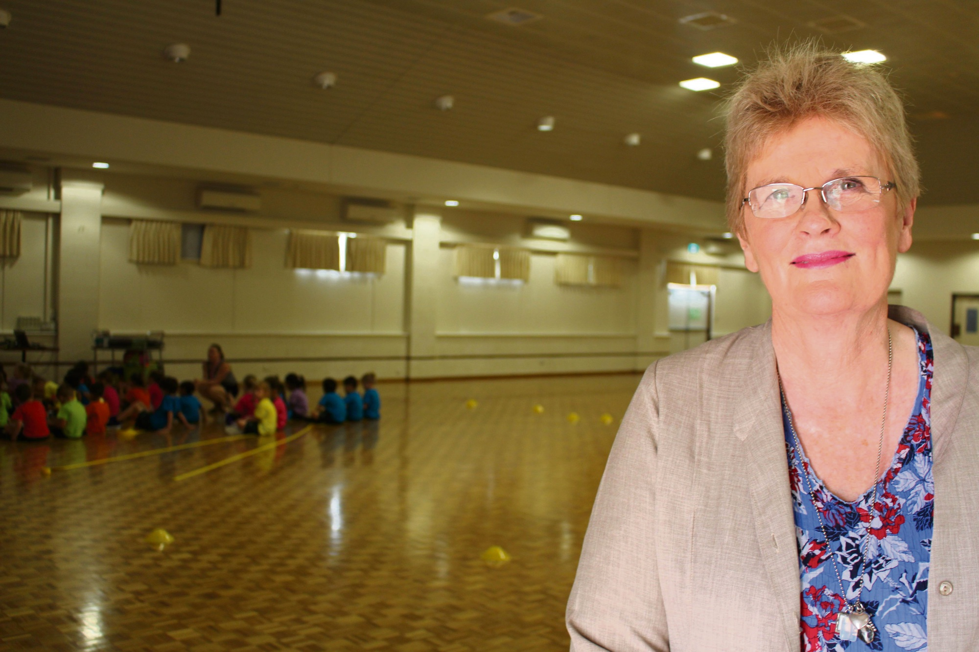St Jerome's Primary School principal Helen O'Toole in the hall.