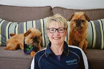 Janet Ingham with her dogs Angus and Hamish. Picture: Jon Hewson