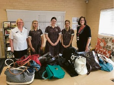 Ellenbrook Christian College students donate handbags and toiletries to women in need