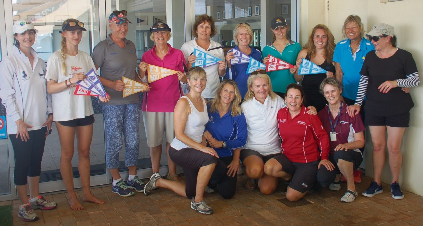 Hillarys Yacht Club's female skippers are all smiles after the annual race on Sunday.