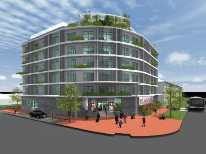 An artist's impression of the proposed hotel.