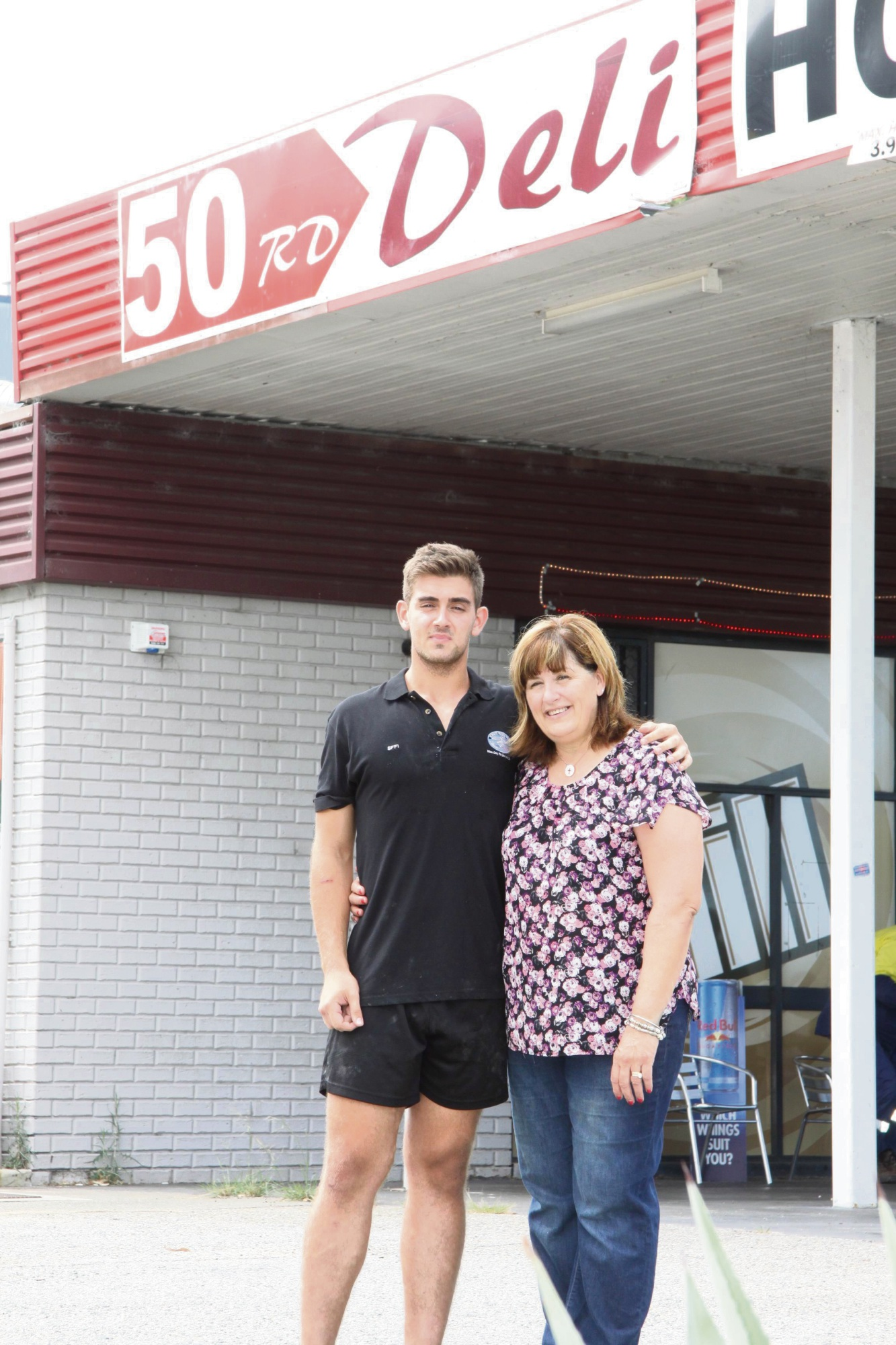 Diana Cutri with her son Eric.