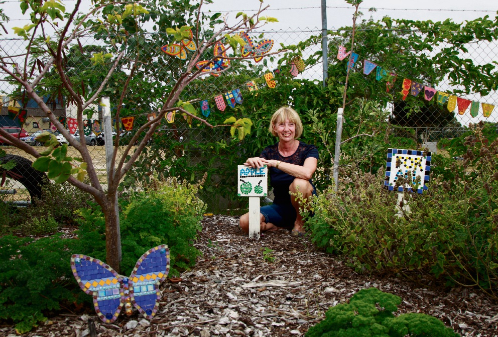 Dorothy Burke in the Southern River Community Garden. Picture: Marie Nirme       d464887.
