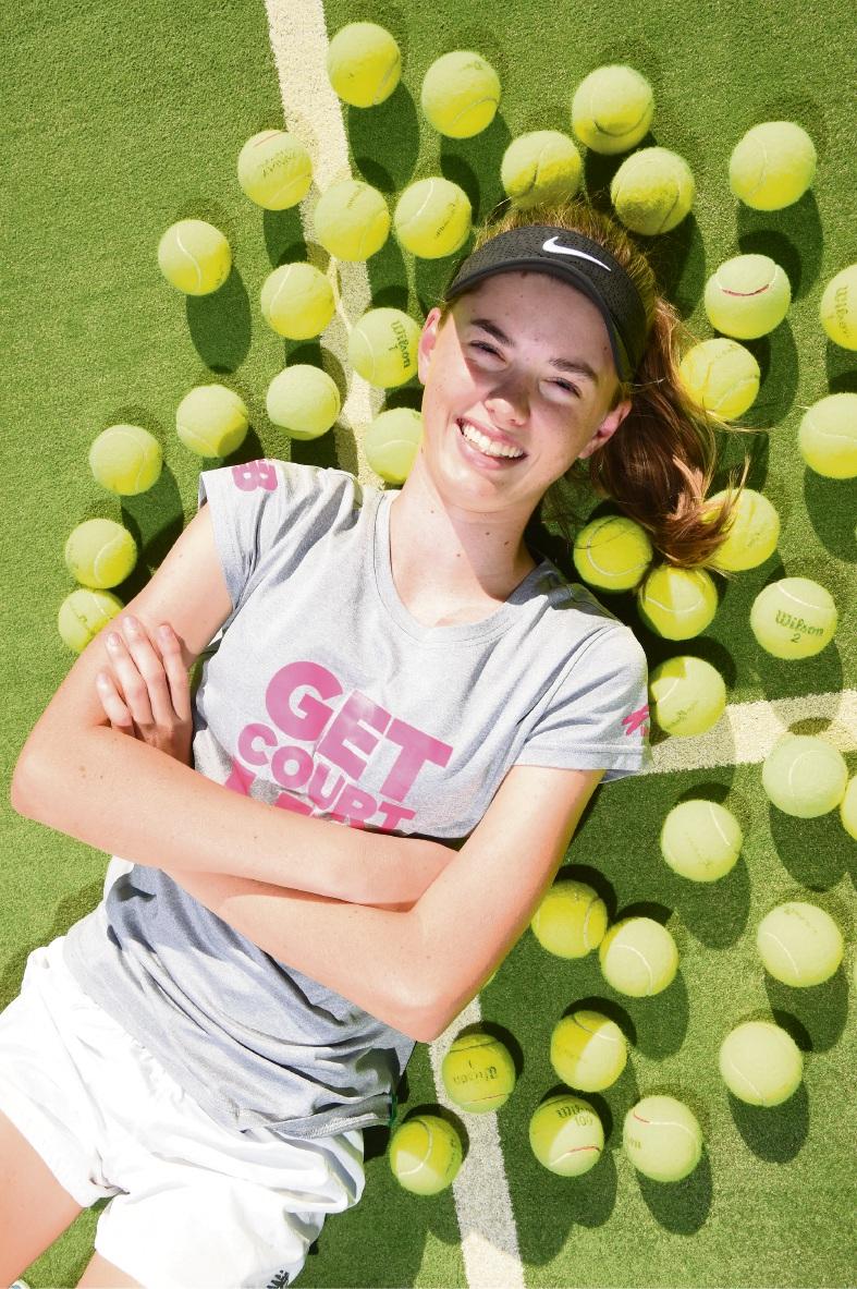 Mandurah tennis player Rachel Mellor. Picture: Jon Hewson