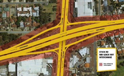 Visuals released by the City of Melville show how homes and businesses will be impacted by road upgrades that will be needed if the Perth Freight Link isn't completed.