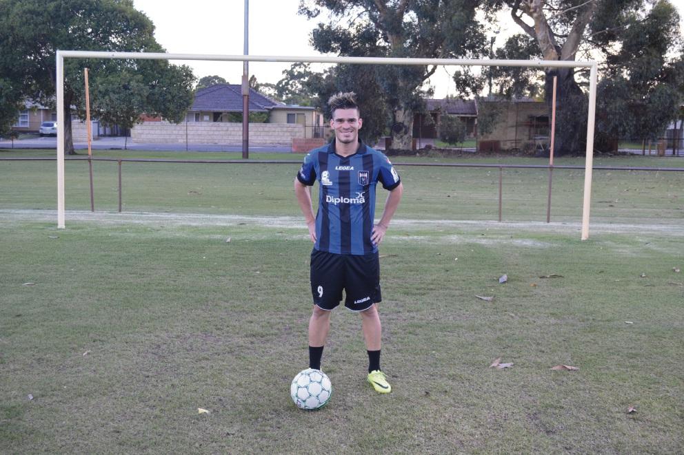 Bayswater City striker Gustavo Giron Marulanda. Picture: Kristie Lim