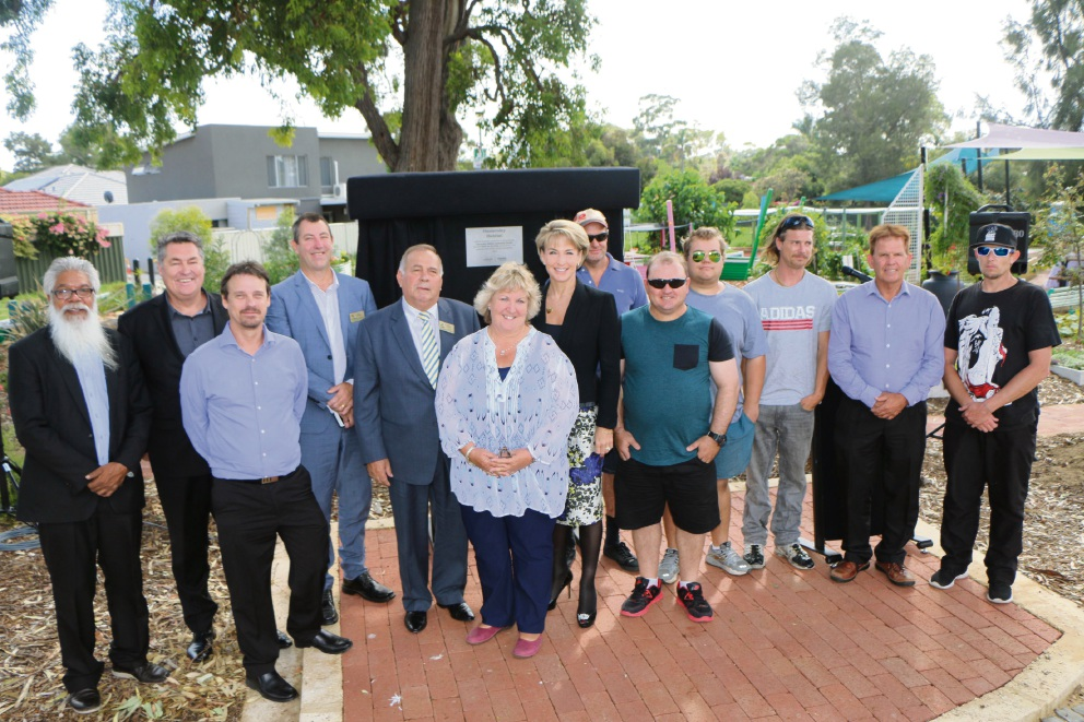 Senator Michaelia Cash at the community garden unveiling.