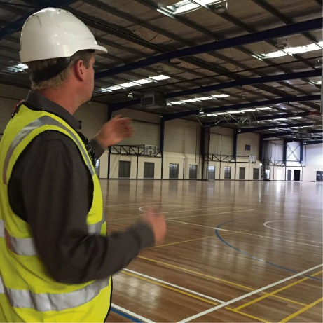 City of Mandurah recreation and services manage Craig Johnson in the new stadium.