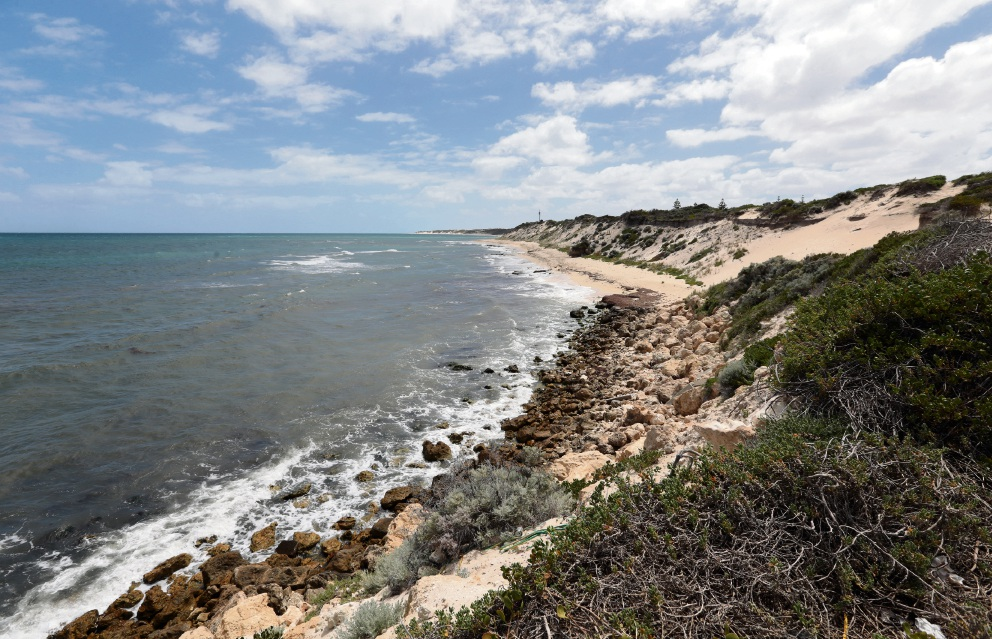 Residents say erosion issues north of Two Rocks Marina need to be dealt with as well as beach access. Picture: Martin Kennealey d465777