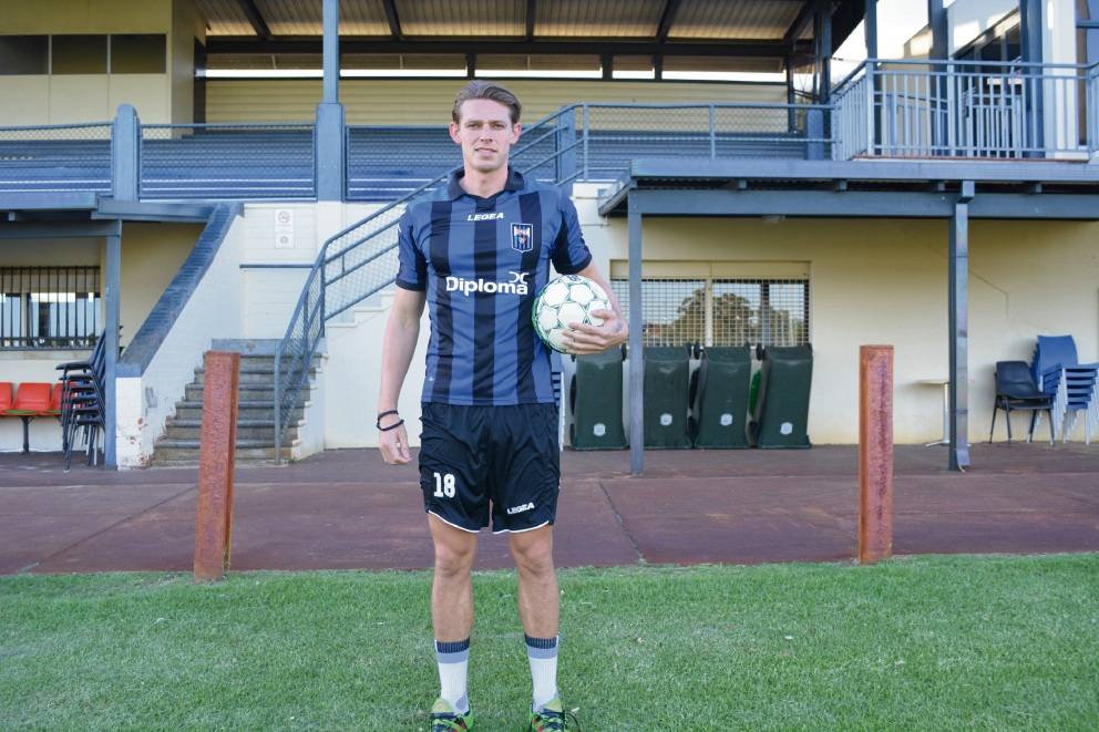 Bayswater City's Brent Griffiths is in doubt against Balga because of interest from a South African club for his services. Picture: Kristie Lim
