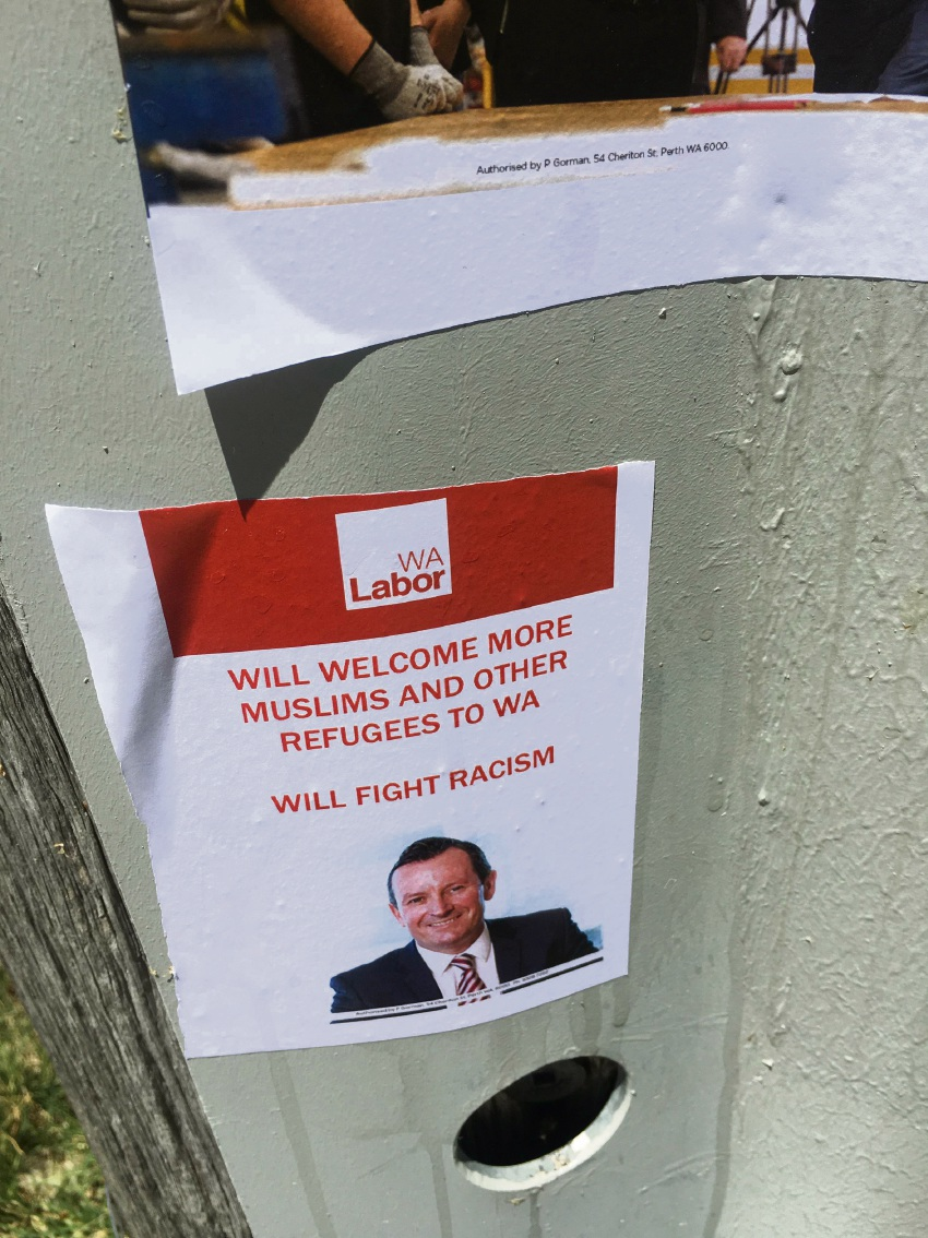 Mark McGowan stickers are fake, says Fremantle MLA