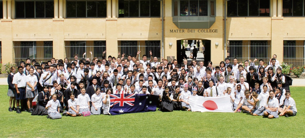 Vegemite welcome for Japanese students at Mater Dei College