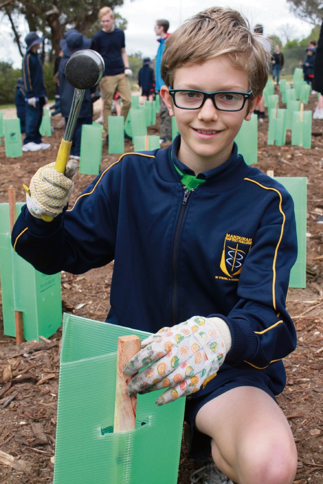 Mandurah Baptist students plant a brighter future