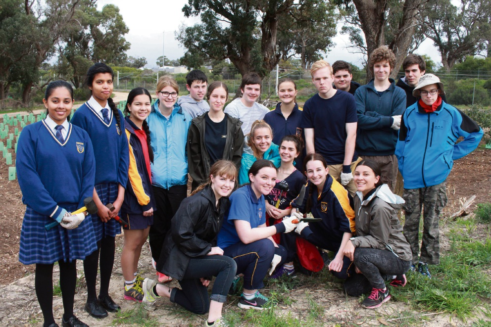 Mandurah Baptist College Year 11 students took part in Schools Tree Day.