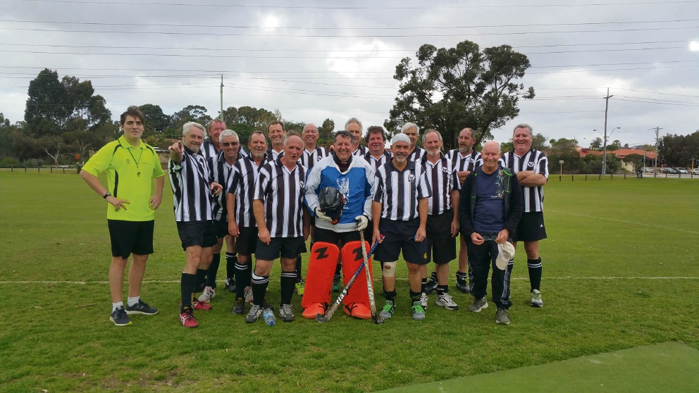 Fremantle Hockey Club's 2016 50s men team.