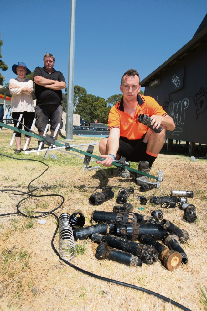 Stratton skate park trashed by vandals on Australia Day