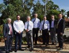 Hasluck MHR Ken Wyatt, Glenn Donaldson of the Downer group, WA Transport Minister Bill Marmion, Darling Range MLA Tony Simpson, Swan Hills MLA Frank Alban, Shire of Mundaring Deputy President Cr Patrick Bertola and acting chief executive Paul O'Connor.