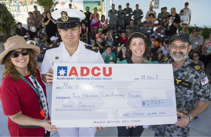 HMAS Stirling sailors hold Christmas function at the Malibu School