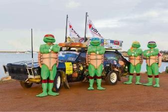 Mandurah's Glenn Cornish and his Ninja Turtle team are taking part in the Variety Bash.