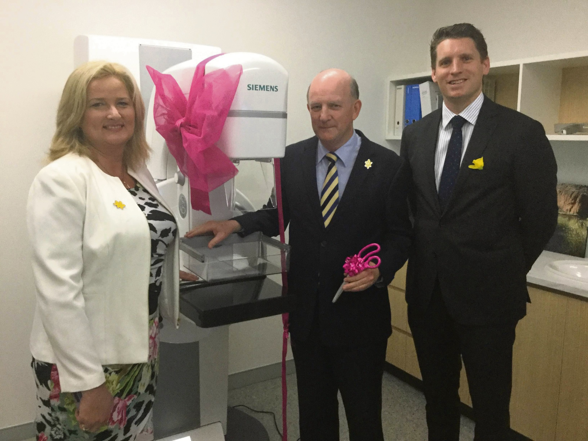 mandurah breastscreen wa clinic opens on daffodil day