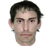 An identikit photo of the person police would like to speak to about the assaults.