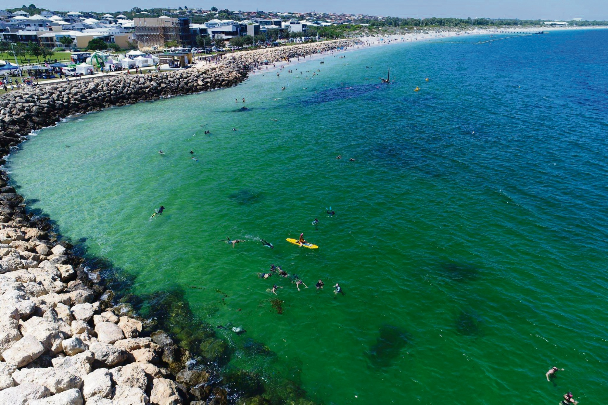 The opening of the Coogee Maritime Trail was the main attraction of the Salty Fest on Sunday. Picture: Global Unmanned Systems