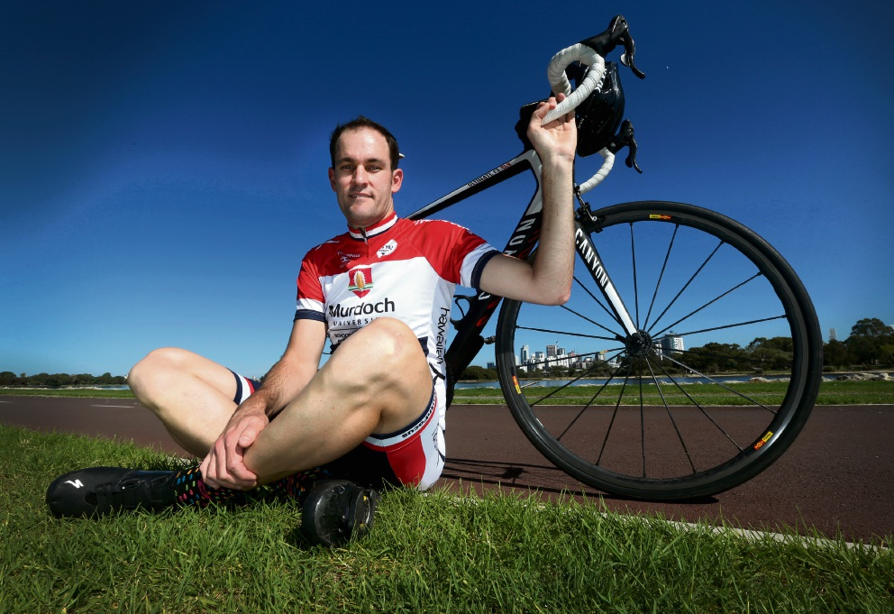 Leon Burgin is in training to take part in the Ride for Youth. Picture: Matt Jelonek