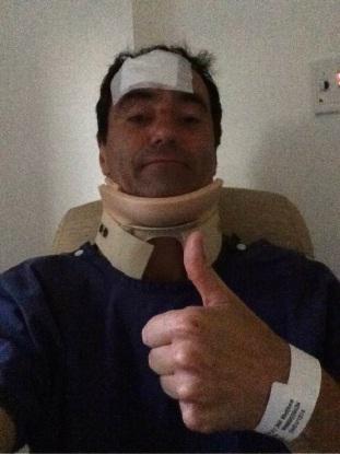 Matt Burley recovering in hospital.