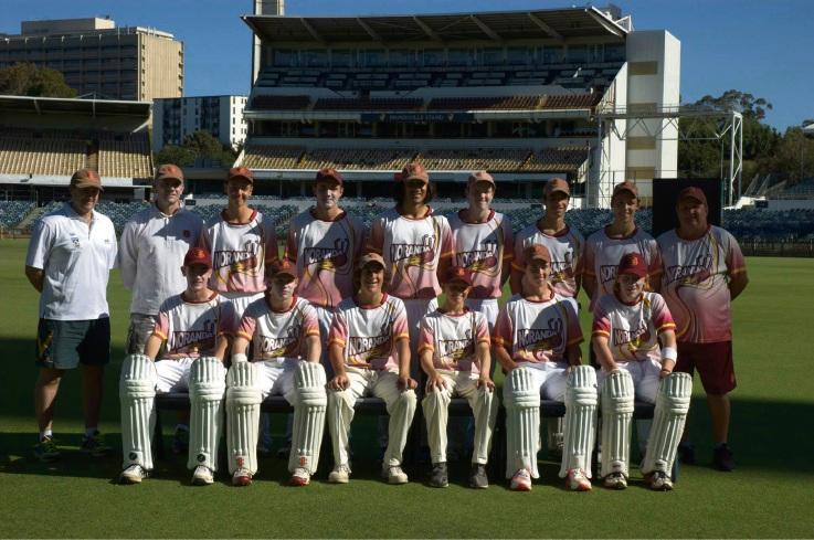 Noranda Junior Cricket Club's U17s team.