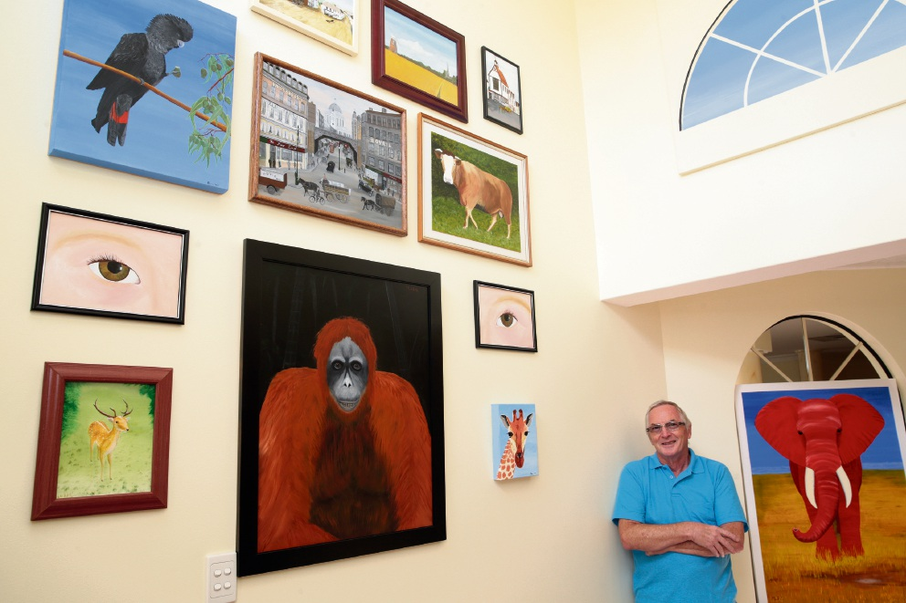 Fred Maris will have a 'home open' in his studio. Picture: Martin Kennealey www.communitypix.com.au d465455