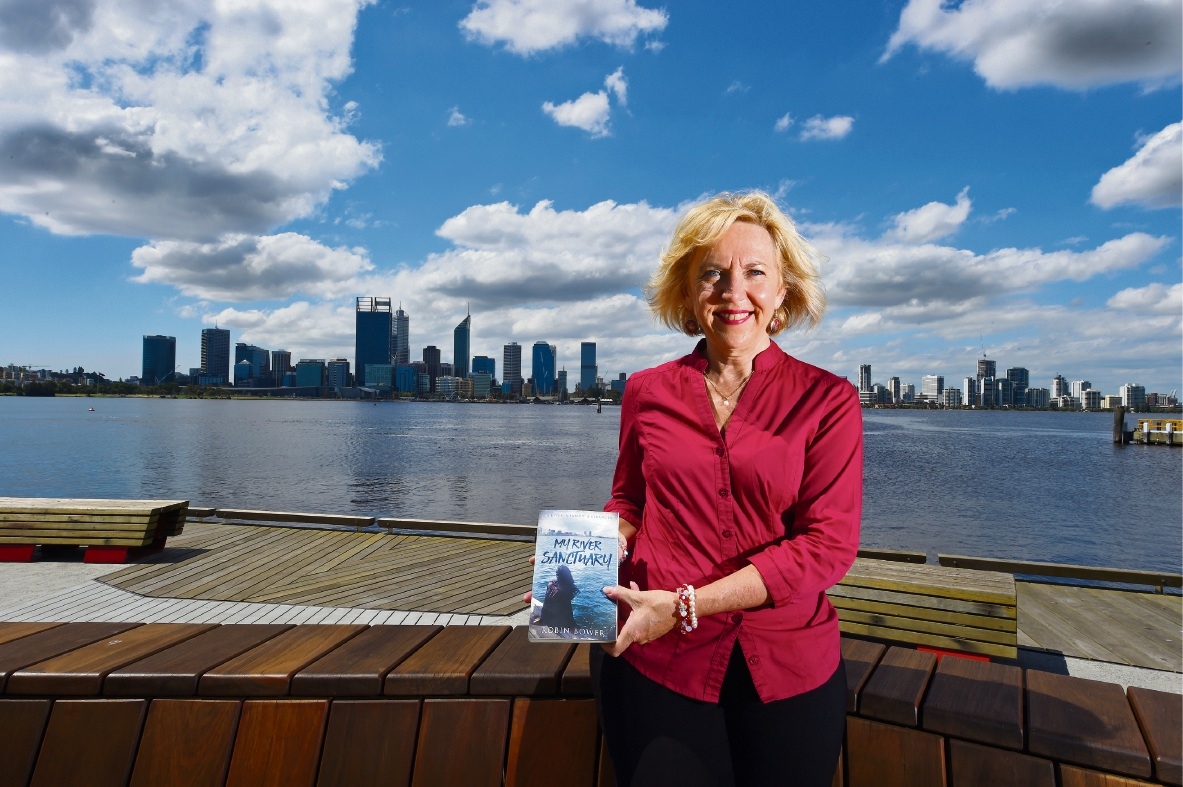 South Perth-born author Robin Bower. Picture: Jon Hewson