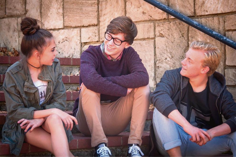 Stephanie Shaw, Seamus Harrison and Matthew Manning. Picture: Jon Lambert