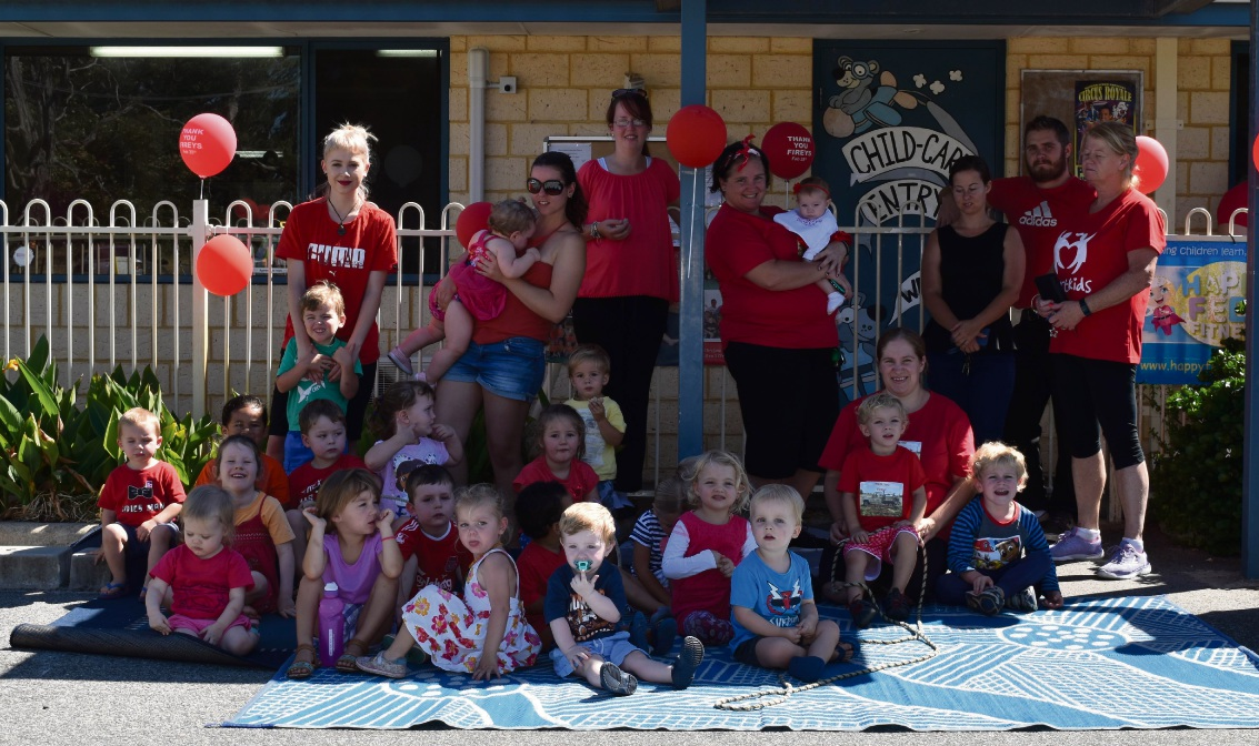Ravenswood Early Learning child care centre celebrates National Red Balloon Day with Yarloop fireman visit