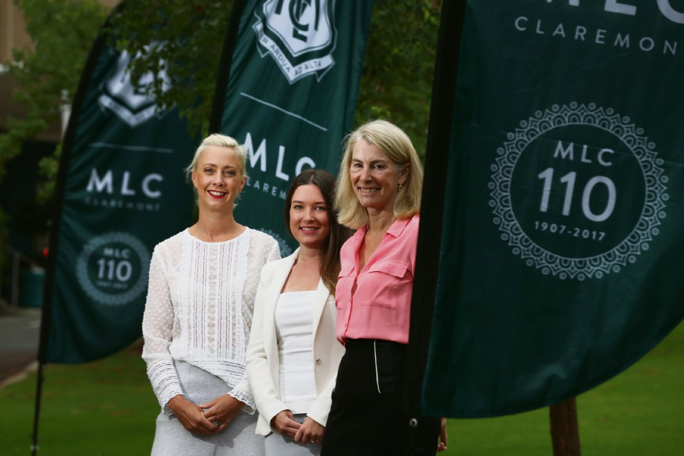 Tracy Lefroy, Rebecca Johnston and Caroline de Mori were guest speakers at the international Women's Day breakfast at MLC. d466252