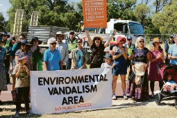 Protesters have been a constant presence during land clearing for Roe 8.